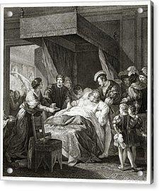 Leonardo Da Vicni On His Deathbed Acrylic Print