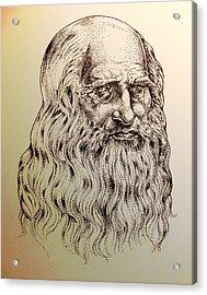 Leonardo Da Vinci Acrylic Print by Derrick Higgins