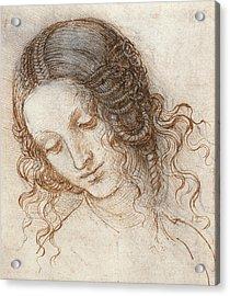 Leonardo Head Of Woman Drawing Acrylic Print by
