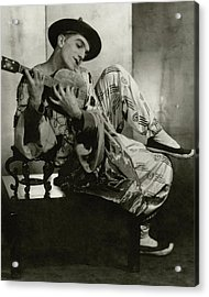 Leonide Massine In Costume For The Ballet Russes Acrylic Print