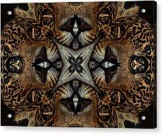 Leopard Kaleidoscope  Acrylic Print