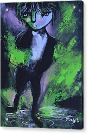 Leprechaun Acrylic Print by Donna Blackhall