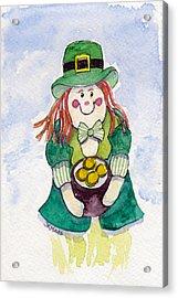 Leprechaun Lassie Acrylic Print