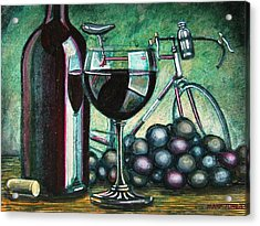 Acrylic Print featuring the painting L'eroica Still Life by Mark Howard Jones