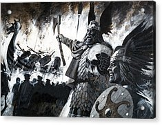 Lerwick Up Helly, A Viking Festival Acrylic Print by Andrew Howat