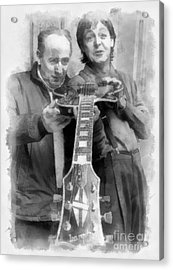 Les And Paul Acrylic Print by Paulette B Wright