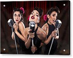 Les Babettes - Turbo Swing Trio Acrylic Print