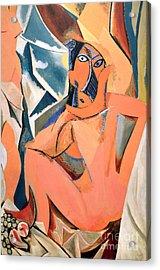 Les Demoiselles D'avignon Picasso Detail Acrylic Print