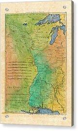 Les Etats Unis 1785 French Fur Trade Map Acrylic Print