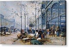 Les Halles Paris Acrylic Print by Jacques Lieven