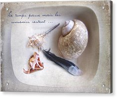 Acrylic Print featuring the photograph Les Souvenirs by Louise Kumpf