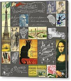 Les Timbres 3 Acrylic Print by Marion De Lauzun