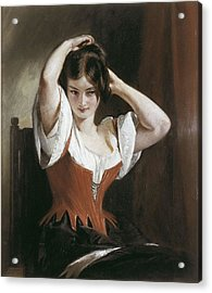 Leslie, Charles Robert 1794-1859 Acrylic Print
