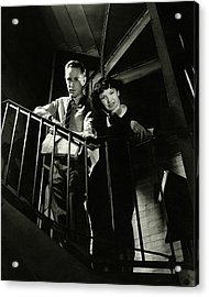 Leslie Howard And Peggy Conklin Leaning Acrylic Print