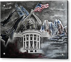 Acrylic Print featuring the drawing Let Freedom Ring by Carla Carson