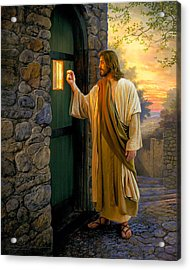 Let Him In Acrylic Print by Greg Olsen