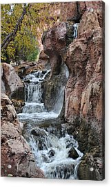 Acrylic Print featuring the photograph Let It Fall by Amanda Eberly-Kudamik