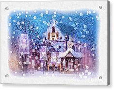 Let It Snow Acrylic Print by Mo T