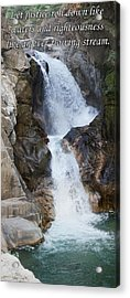 Let Justice Roll Down Like Waters Acrylic Print by Julie Rodriguez Jones