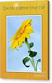 Let Me Brighten Your Day Acrylic Print