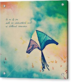 Let Me Fly Free Acrylic Print