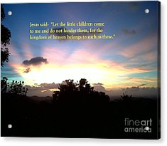 Let The Little Children Come To Me Acrylic Print