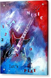 Let The Music Play Acrylic Print