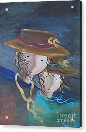 Acrylic Print featuring the painting Let The Wind Blow by Nereida Rodriguez