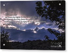 Let There Be Light Acrylic Print by Janice Rae Pariza