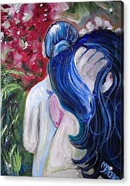 Let Your Hair Down Acrylic Print by Melissa Torres