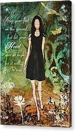Let Your Heart Soar Acrylic Print by Janelle Nichol
