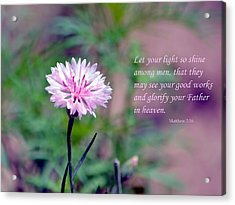Let Your Light So Shine Acrylic Print by Deena Stoddard