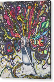 Acrylic Print featuring the painting Let Your Music Flow In Harmony by Chrisann Ellis