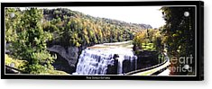 Acrylic Print featuring the photograph Letchworth State Park Middle Falls Panorama by Rose Santuci-Sofranko