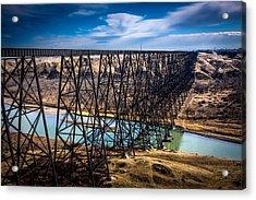 Lethbridge Train Bridge Acrylic Print