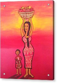 Lets Feed The Hungry Acrylic Print by Deyanira Harris