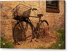 Let's Go Ride A Bike Acrylic Print