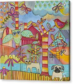 Let's Play Acrylic Print by Carla Bank