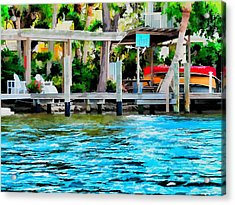 Acrylic Print featuring the photograph Let's Retire by Pamela Blizzard