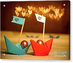 Lets Sail Through Life Together Acrylic Print