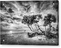 Let's Stay Here Forever Bw Acrylic Print by Marvin Spates