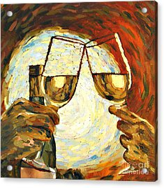 Let's Toast Acrylic Print by Donna Schaffer