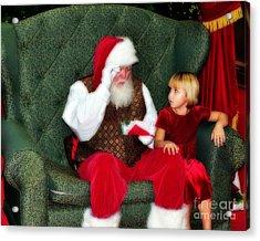 Letter To Santa Acrylic Print by Eddie Yerkish