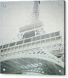 Letters From The Eiffel - Paris Acrylic Print