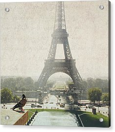 Letters From Trocadero - Paris Acrylic Print by Lisa Parrish