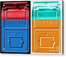 Letters Letters Acrylic Print by Dan Holm
