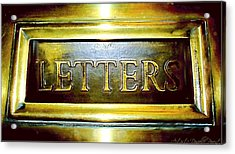 Letters Trough The Door Acrylic Print