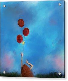 Letting Go Acrylic Print by Hazel Billingsley
