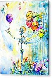 Acrylic Print featuring the painting Letting Go by Heather Calderon