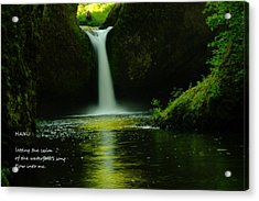 Letting The Calm Acrylic Print by Jeff Swan